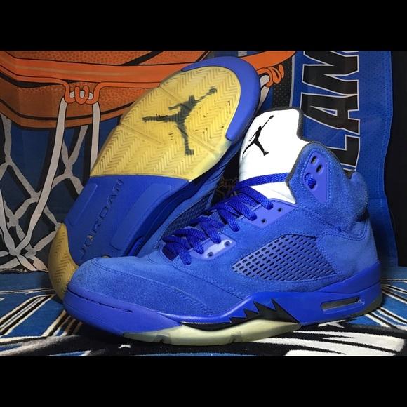 0a3d899eeee9aa Jordan Other - Men s Jordan V Blue Suede Sz 12